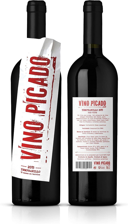 VINO PICADO - Vino tinto - 12 meses barrica - Caja de 2 botellas de 750ml: Amazon.es: Alimentación y bebidas