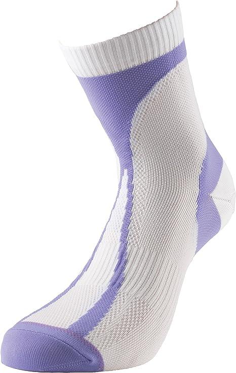 More Mile Womens Running Socks White Breathable Ultra Lightweight Racing Sock