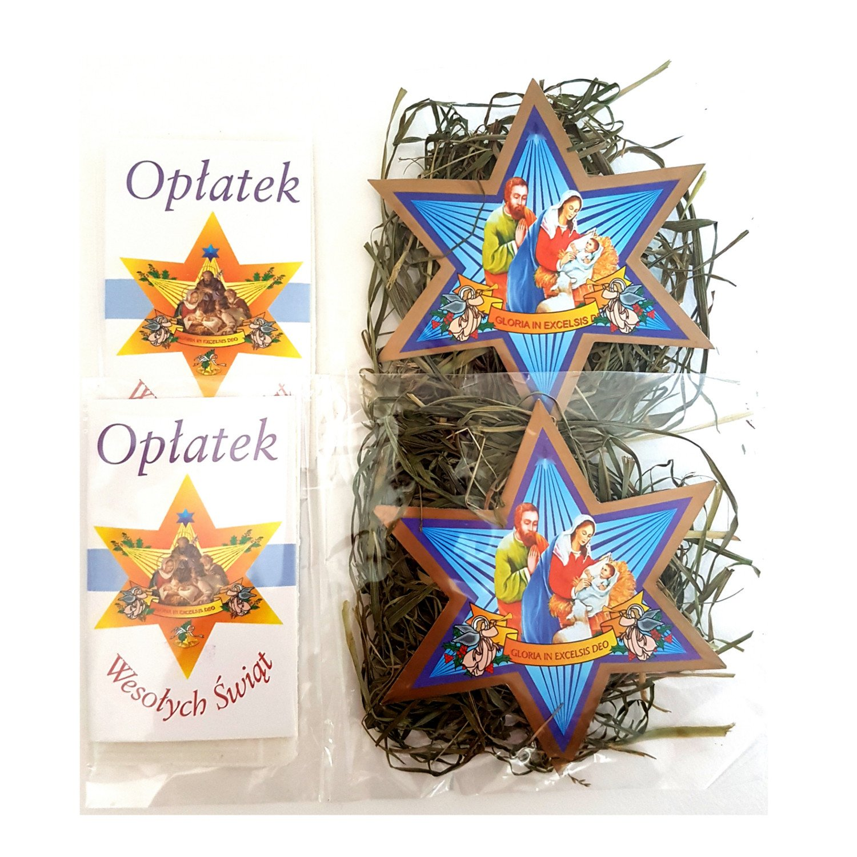 Set of 2 Mini Christmas Wafers & Hay (Oplatek & Sianko)
