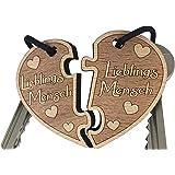 endlosschenken Schlüsselanhänger Lieblingsmensch doppelseitige Gravur aus Holz