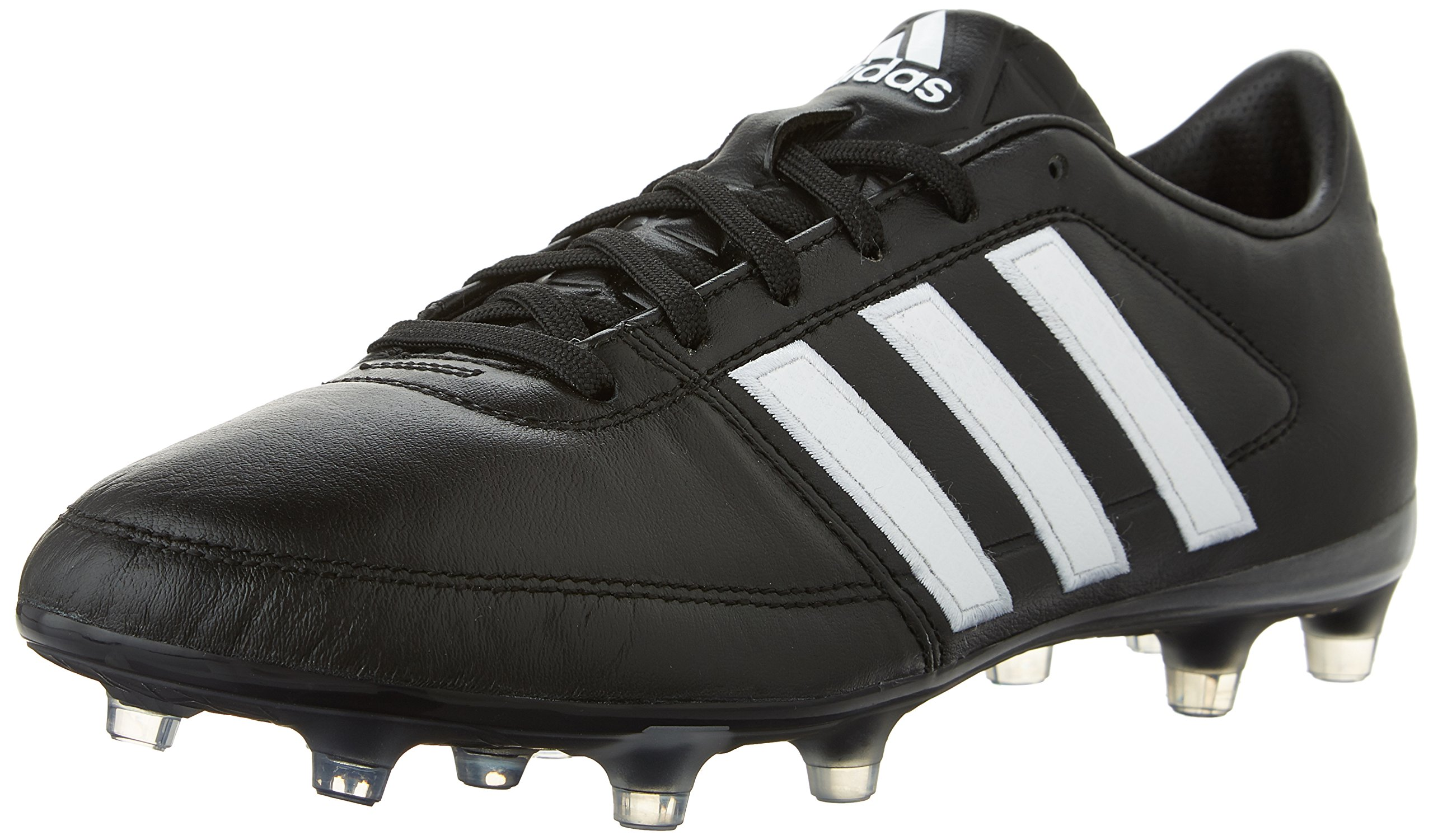 adidas Performance Men's Gloro 16.1 FG Soccer Cleat, Black/White/Metallic Silver, 4.5 M US by adidas