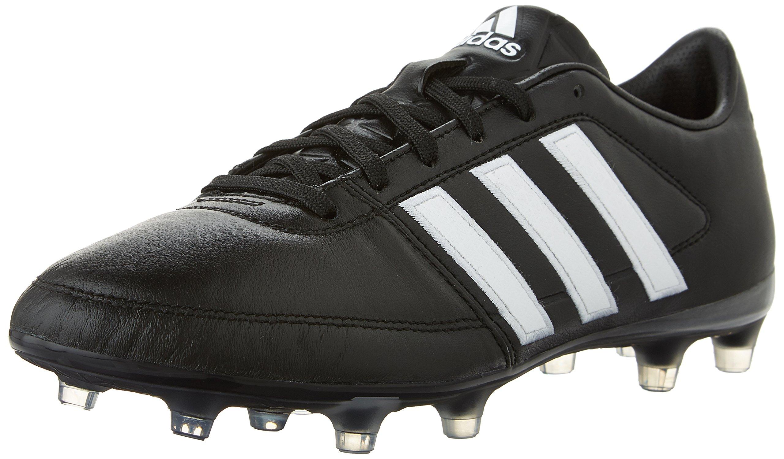 adidas Performance Men's Gloro 16.1 FG Soccer Cleat, Black/White/Metallic Silver, 4.5 M US