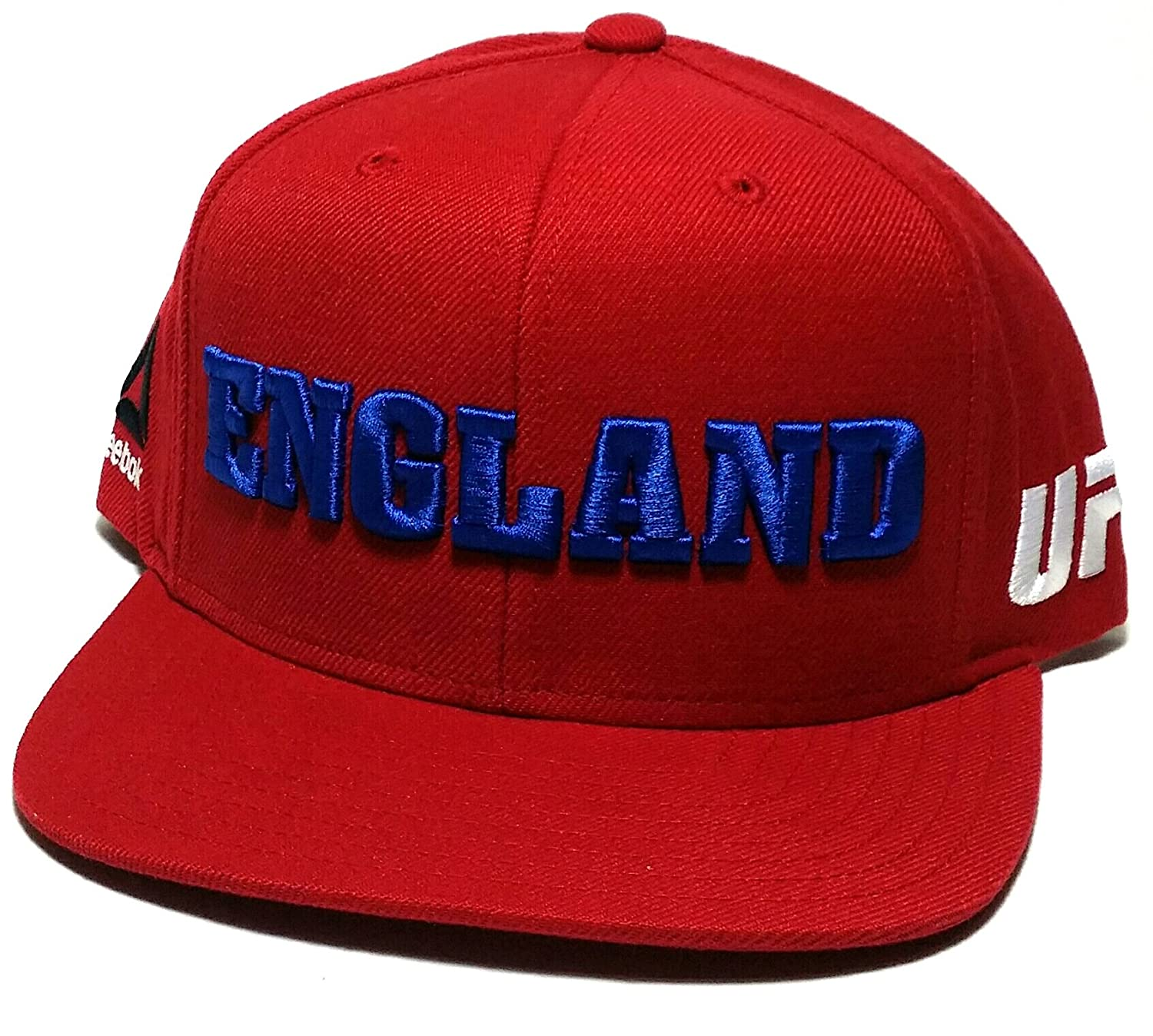 Amazon.com   UFC Reebok MMA Red Blue White England Country Pride Flat  Snapback Adjustable Hat Cap   Sports   Outdoors 8c8e1f14ff26