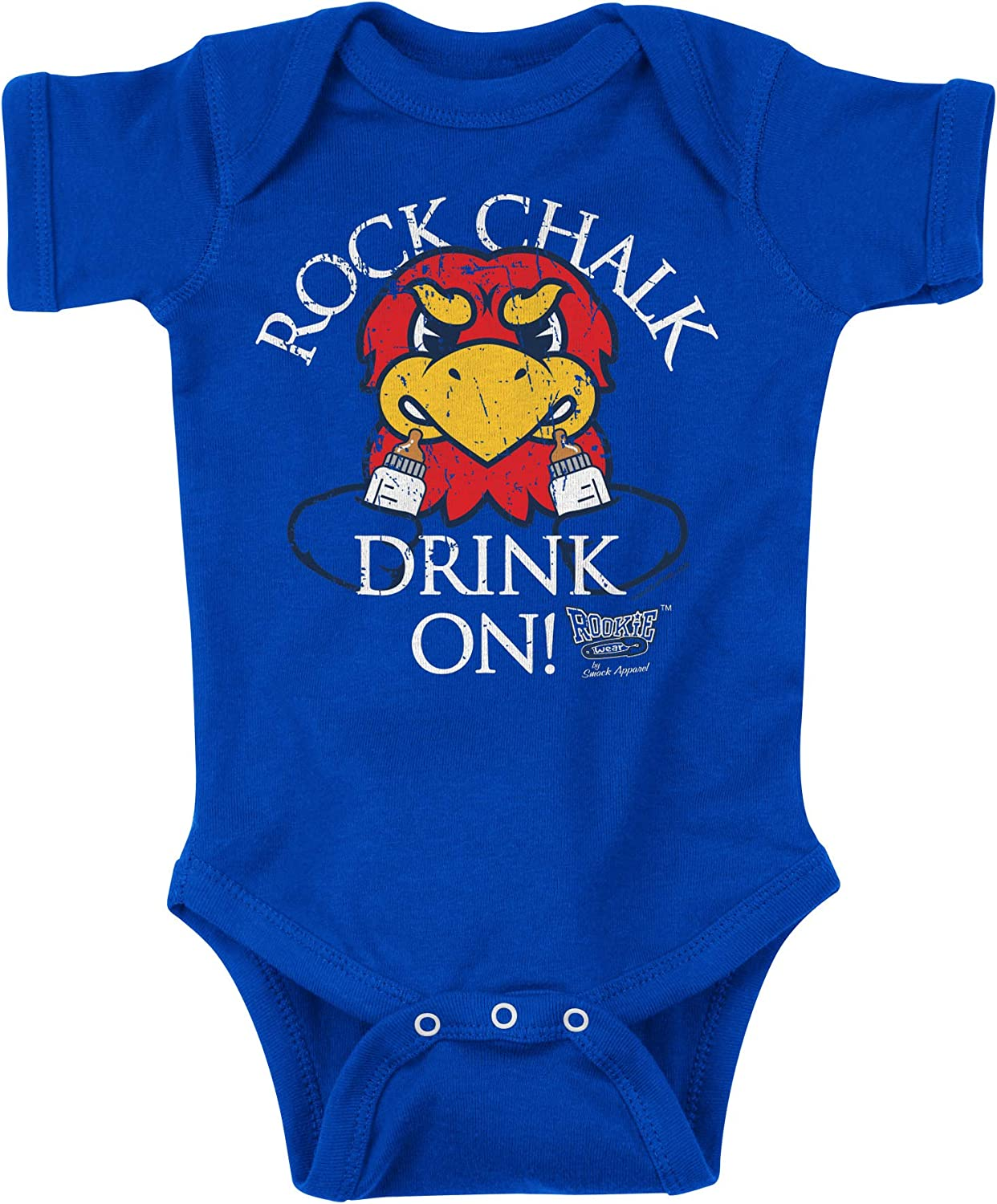 Royal Onesie NB-18M Rookie Wear By Smack Apparel Kansas Basketball Fans or Toddler Tee Rock Chalk Drink On 2T-4T