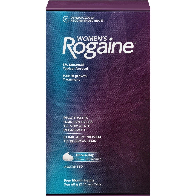 Women's Rogaine Foam Hair Regrowth Treatment, 4.22 Ounce per pack. (3 Pack)