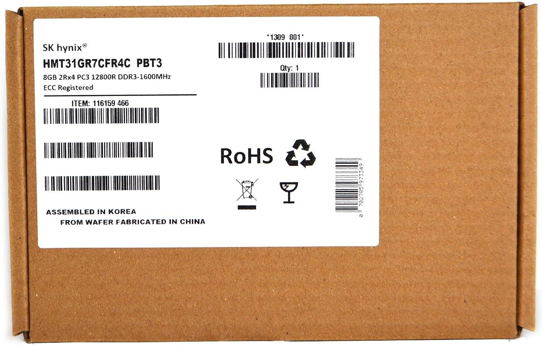 SK HYNIX HMT31GR7CFR4C-PB 8GB 2Rx4 DDR3 PC3-12800R 1600MHz Server Memory Ram