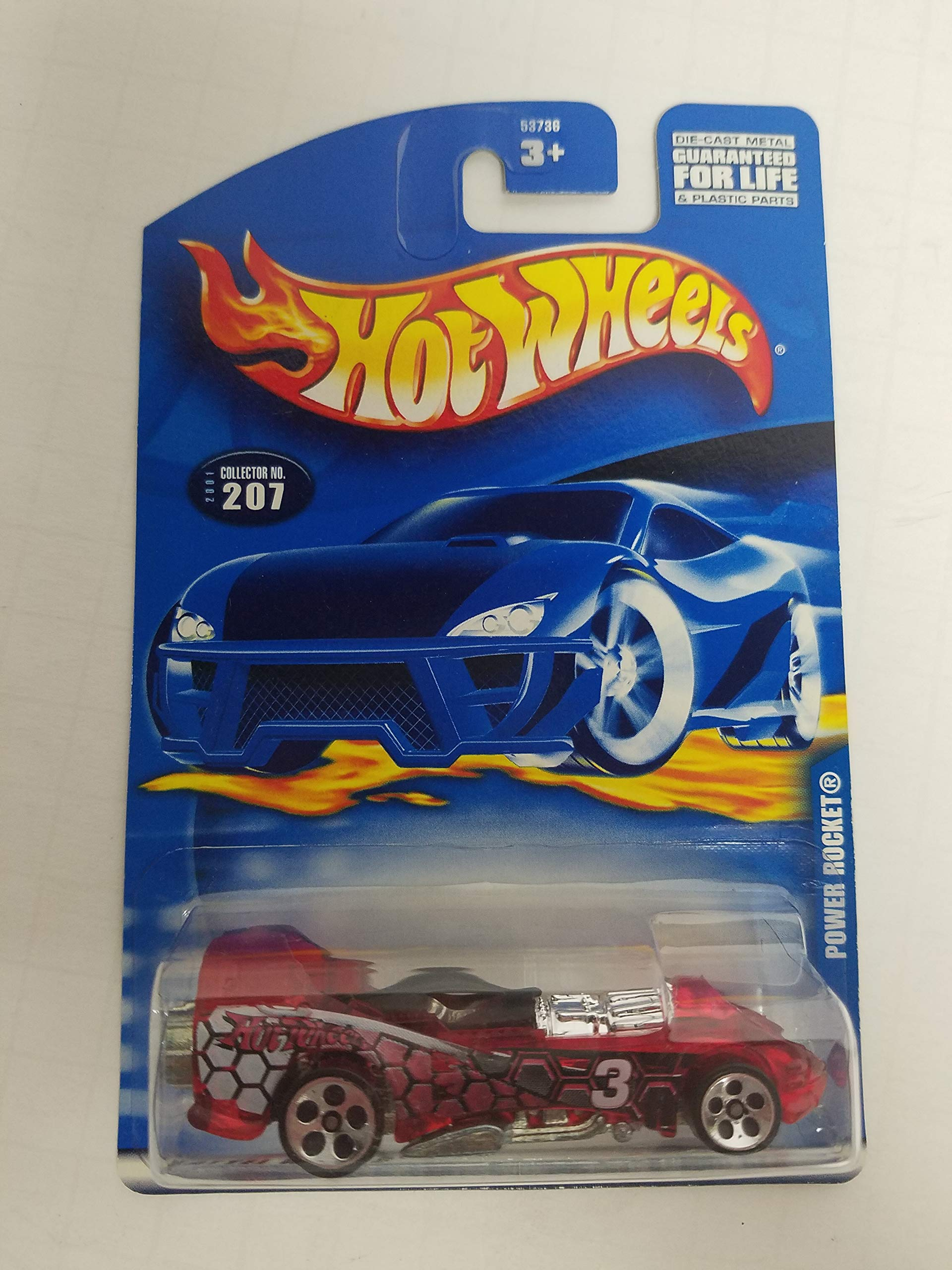 POWER ROCKET Hot Wheels 2001 diecast 1/64 scale car No. 207