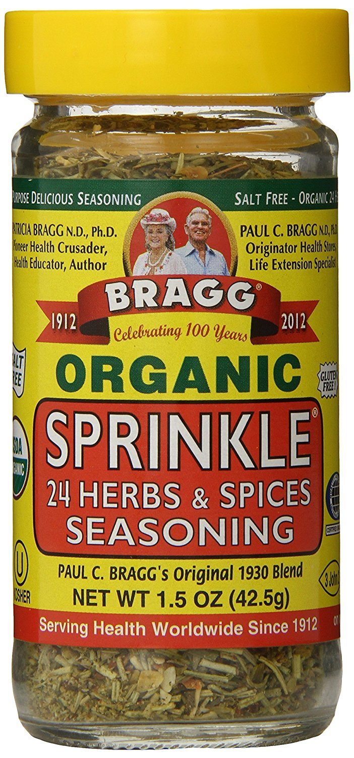 Bragg Organic Sprinkle (24 Herbs & Spices) Seasoning, 1.5  Ounce Bottle 81gcBCpeIwL