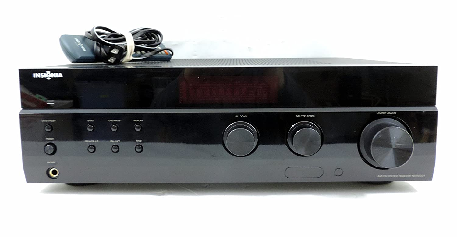 Amazon.com: InsigniaTM NS-R2001 200W 2.0 Channel Stereo Receiver black: Electronics