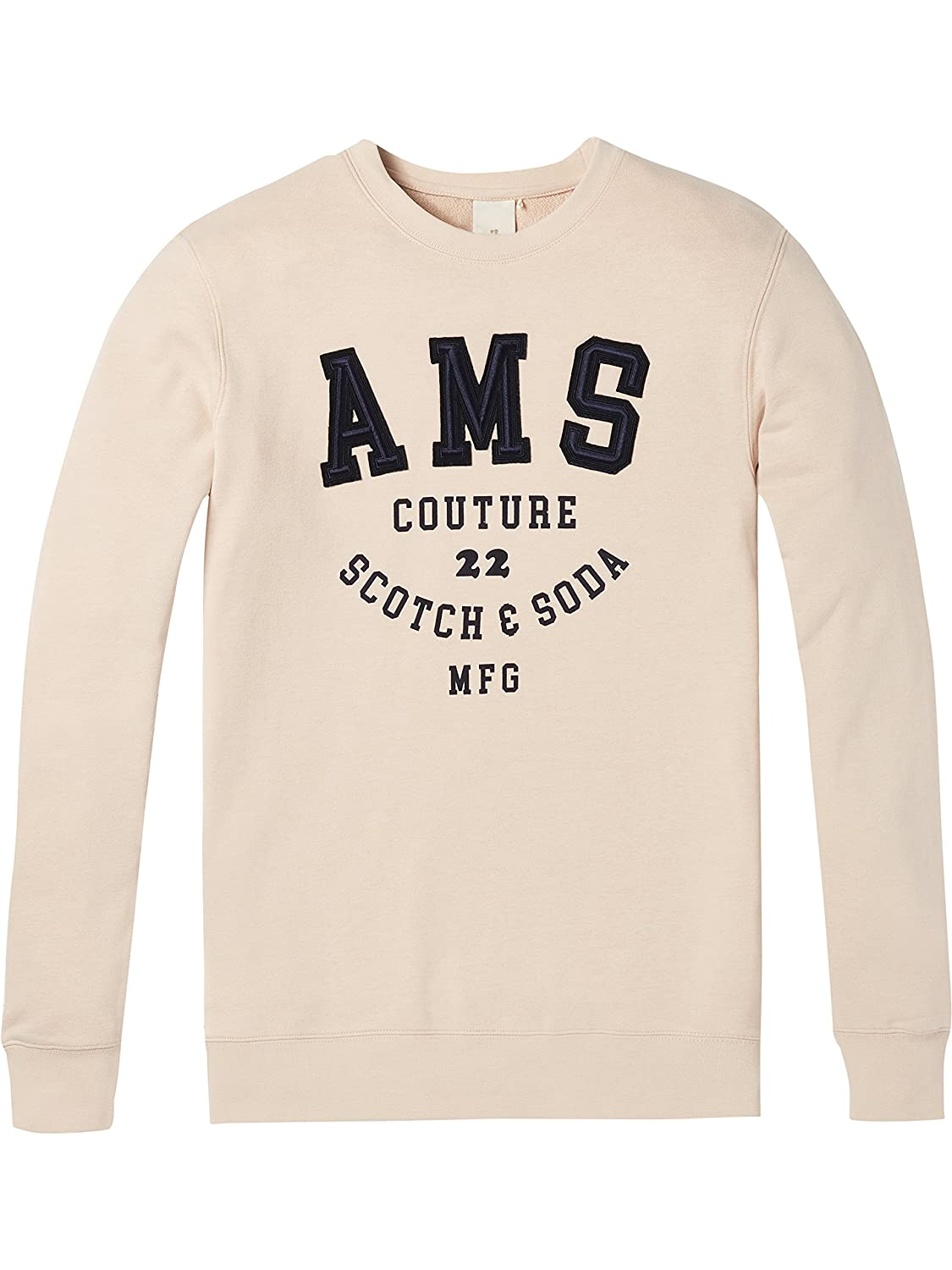 TALLA M. Scotch & Soda Classic Crewneck Sweat with Embroidered Logo Chest Artwork Sudadera para Hombre