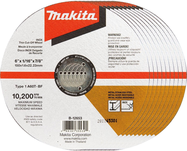 25-Pack Makita 724117-A-25 6-Inch Steel Cut-Off Wheel