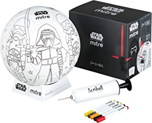 Mitre Star Wars Scriball Personalisable Football with Colouring Pens