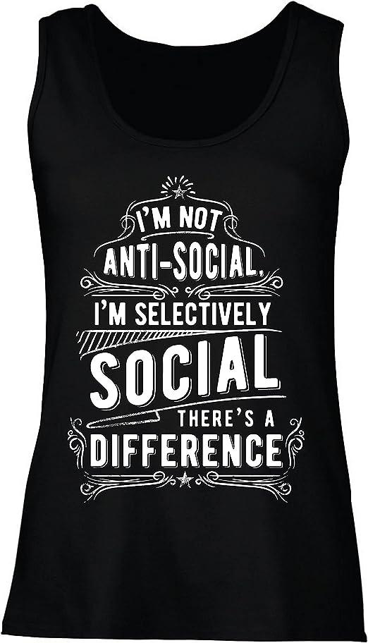 lepni.me Camisetas sin Mangas para Mujer No Soy Antisocial Solo selectivamente Social, Gracioso Diciendo, Citas de Humor sarcástico: Amazon.es: Ropa y accesorios