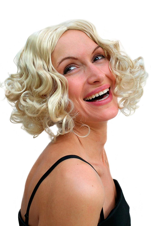 Party/Fancy WIG ME UP - Peluca Hollywood, diva RUBIA, años 20, tipo burlesque PW0238-KB88: Amazon.es: Juguetes y juegos