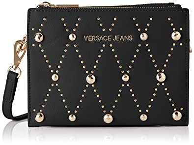 284a8703221 Image Unavailable. Image not available for. Color: Versace EE1VTBBEB E899  Black Shoulder Bag for Womens
