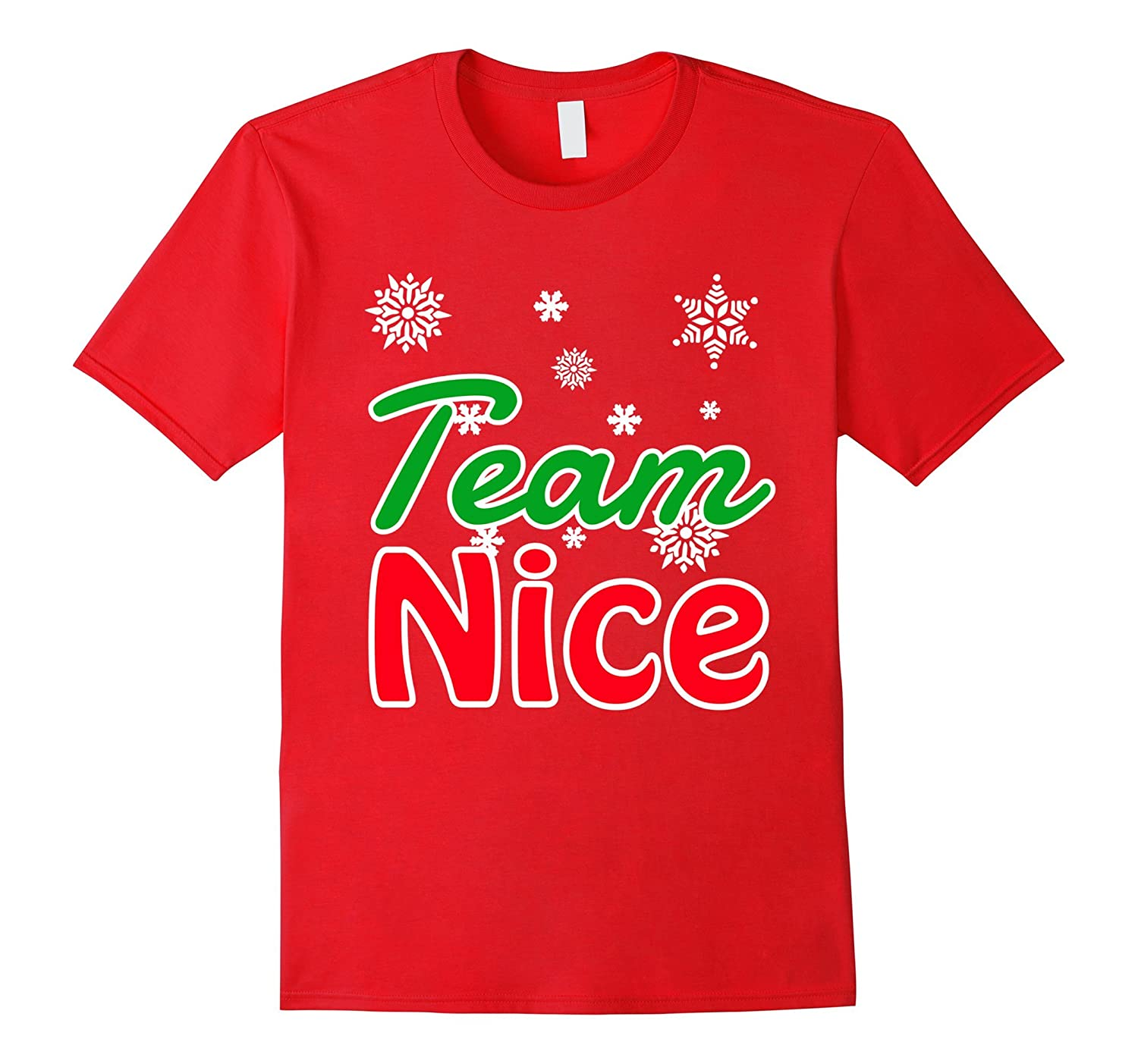 Santa Family Matching Pajama Christmas Team Nice T-Shirt-FL