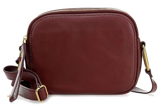 a basso prezzo cd2bd 3684d Fossil Elle Borsa a tracolla marrone rosso: Amazon.it: Abbigliamento