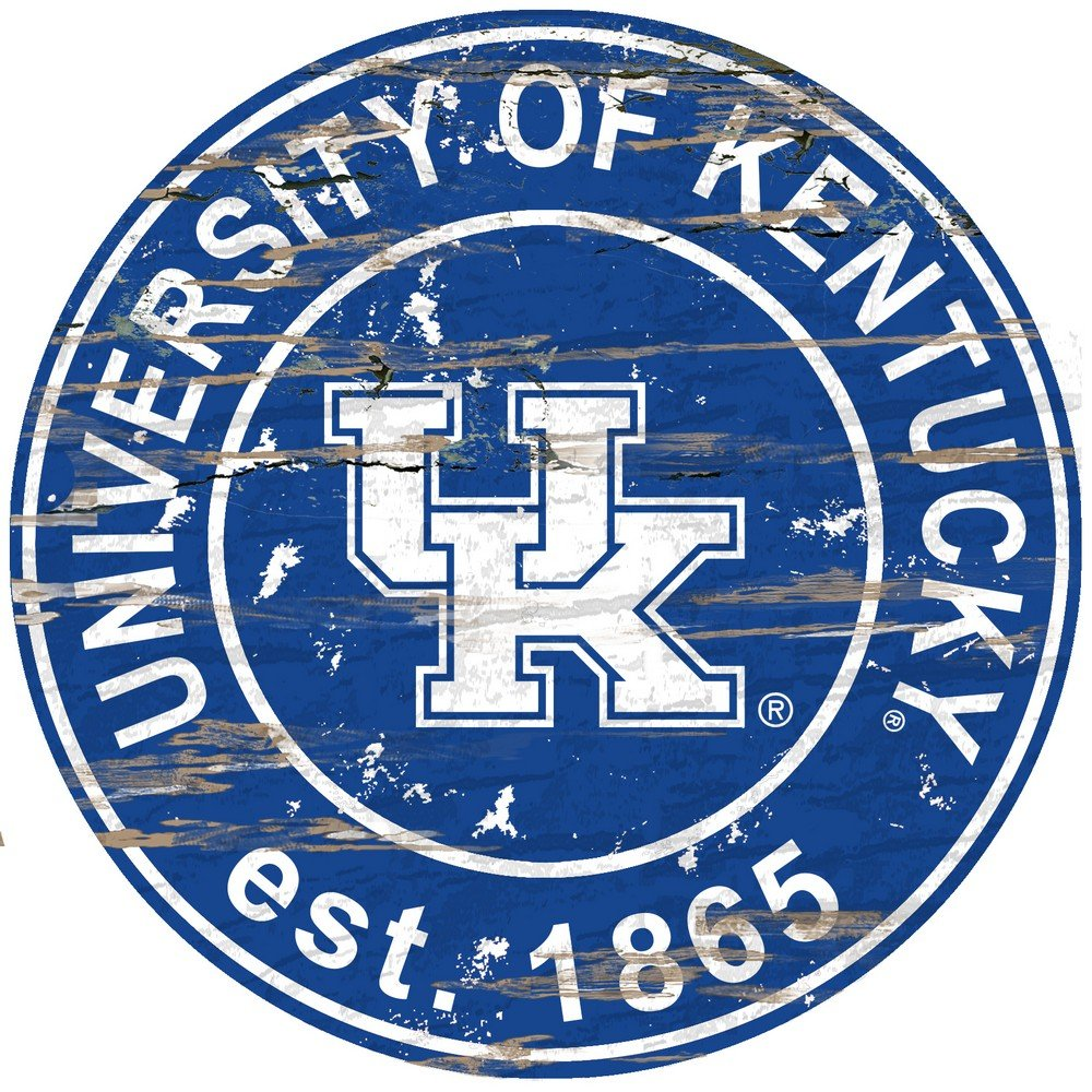 Fan Creations University of Kentucky Distressed Round Sign, Multi