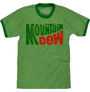 81a9414c Amazon.com: Tee Luv Mountain Dew T-Shirt - Licensed Mt. Dew Vintage ...