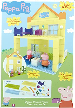 Peppa Pig - Build & Play - La Casa de Peppa - Construction Set 2 Mini Figuras: Amazon.es: Juguetes y juegos