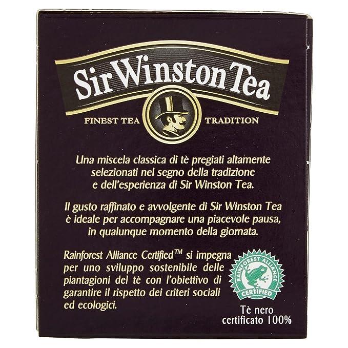Sir Winston Tea Infusione per Bevande Calde, Nero Indian Chai RFA ...