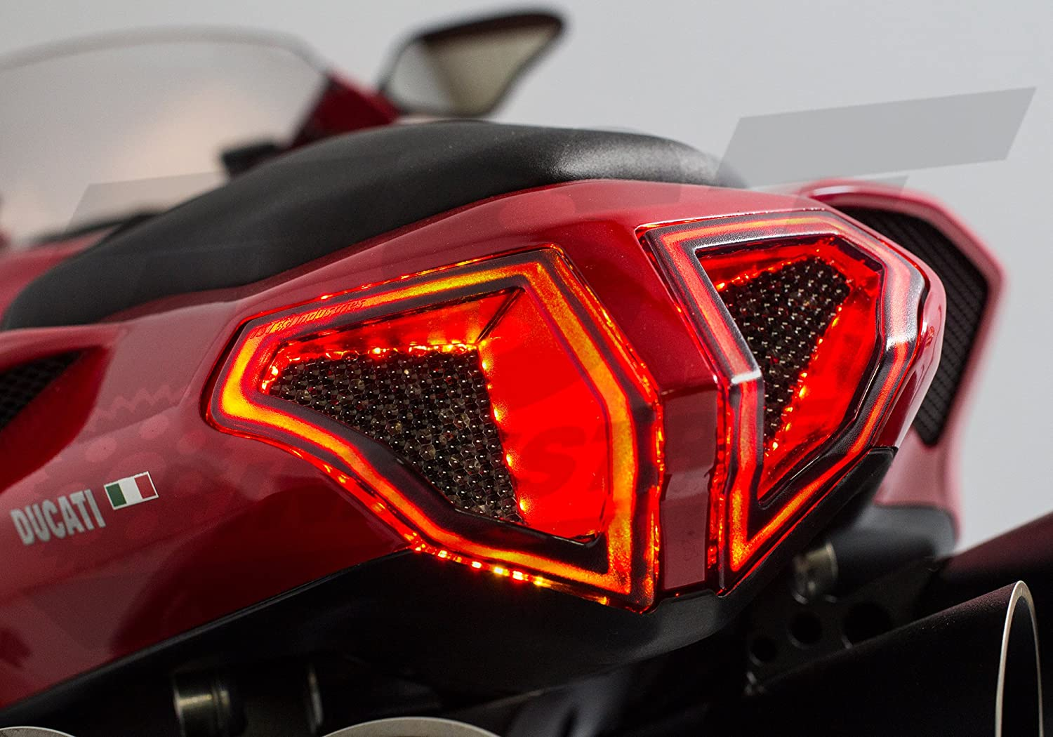 Integrated Programmable Tail Light for Ducati 848 1098 1198 Smoked Lens