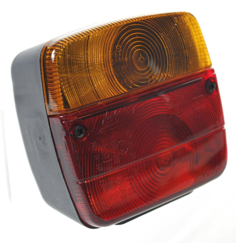 Tapalas Rampe Plaque de Signalisation Galvanis/ée pour Remorque avec Feux et Prise Broches 1010