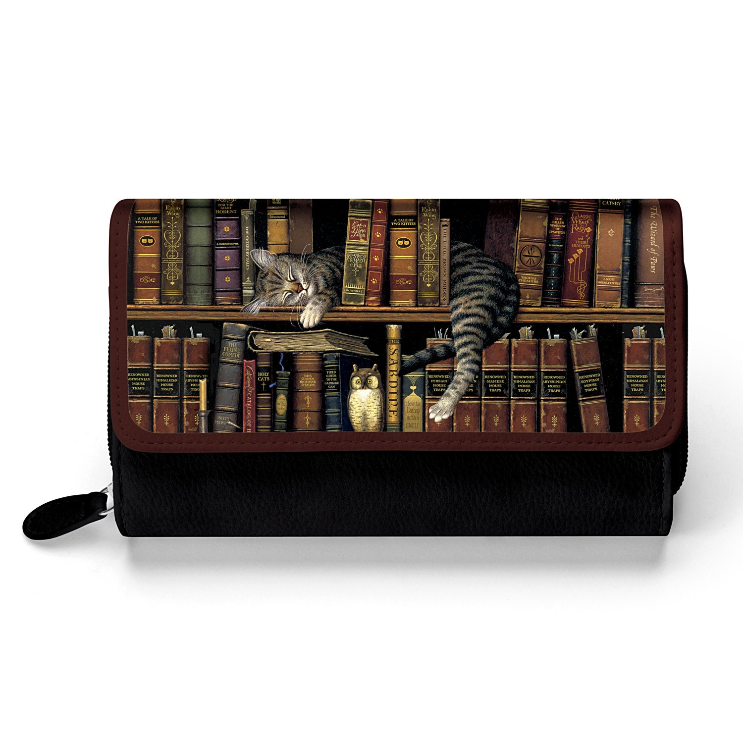 Classic Tails Women's Trifold Wallet Featuring Charles Wysocki Cat Art by The Bradford Exchange