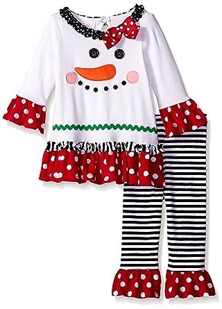 Amazon Bonnie Baby Baby Girls Snowman Appliqued Knit Legging