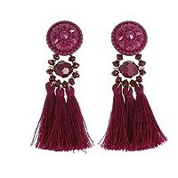 FASHIONGEN - Boucles d'oreilles à pompons frange MELINA