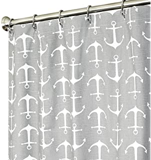 Amazon.com: Nautical extra long shower curtain Unique Fabric Blue ...