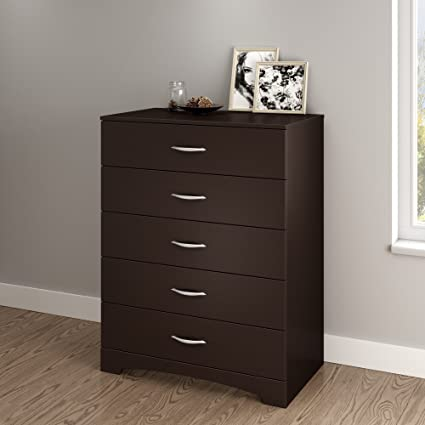 South Shore Step One Collection  Drawer Chest Chocolate