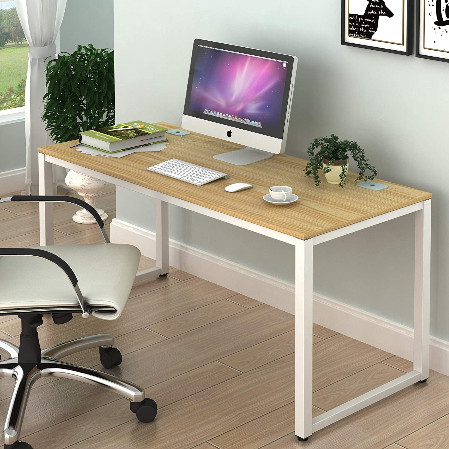 - Amazon.com: SHW Home Office 55-Inch Large Computer Desk, Oak