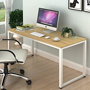 SHW Home Office 55 Inch Large Computer Desk