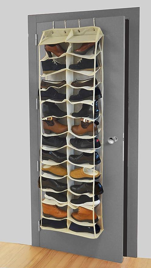 Premier Housewares Ten Section Hanging Shoe Organiser 1 Piece Cream