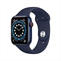 Apple Watch Series 6 GPS + Cellular, 40mm Blue Aluminium Case with Deep Navy Sport Band - Regular