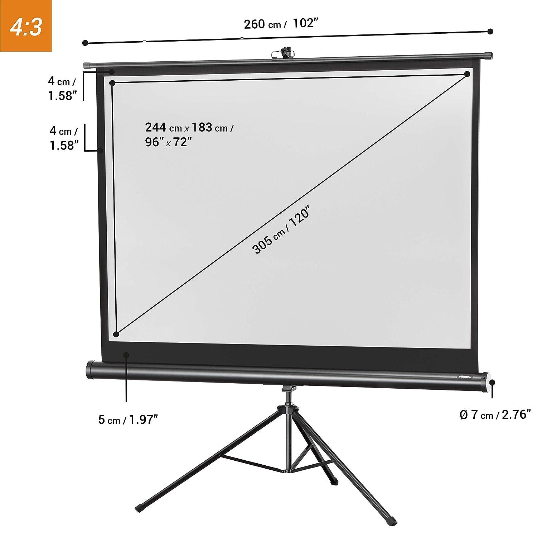 Factor de ganancia 1.0 Negro Pantalla tr/ípode para cine en casa y oficina B/ásica 1:1 133 x 133 cm Celexon 1090014