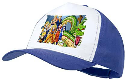 MERCHANDMANIA Gorra Azul DBZ Super SAIYAJINS Shenron Dragon Color ...