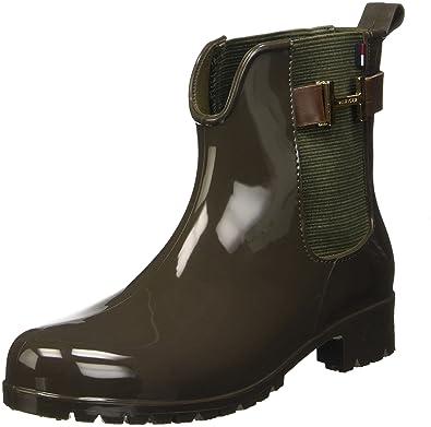 2bf548325d142 Tommy Hilfiger Damen O1285XLEY 7R Chelsea Boots, Mehrfarbig (Military Noce  203),