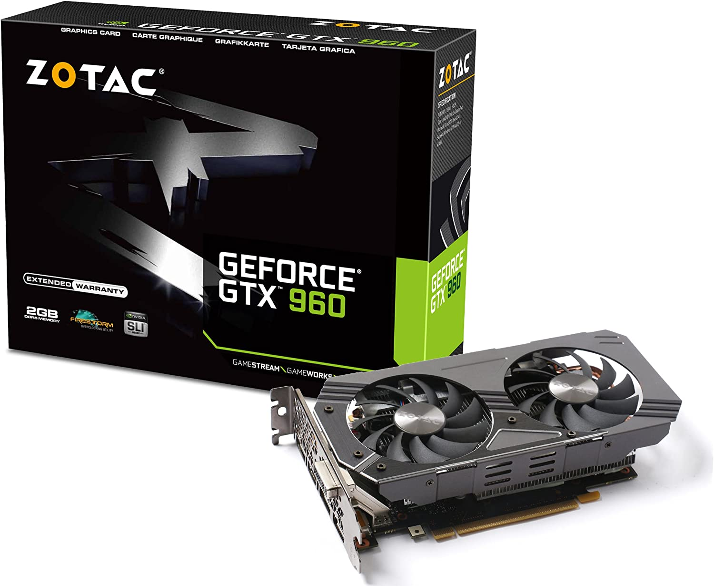 ZOTAC GeForce GTX 960 2GB GDDR5 PCI Express 3.0 HDMI DVI DisplayPort SLI Ready Graphic Card ZT-90301-10M