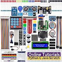 SunFounder Raspberry Pi Starter Kit for Raspberry Pi 4B 3 B+ 400, 537-Page Online Tutorials, Python C Java Scratch Code…