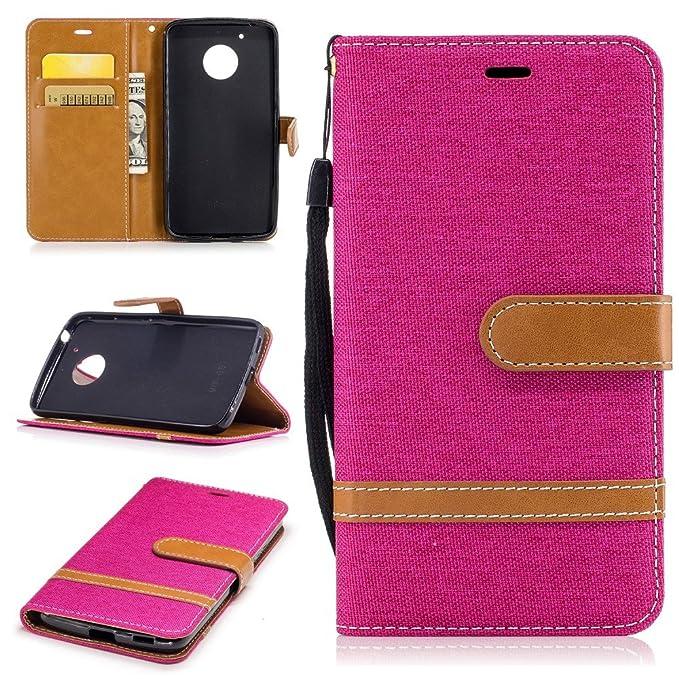 Bi-Color gamuza de Jean tarjeta soporte piel funda para ...
