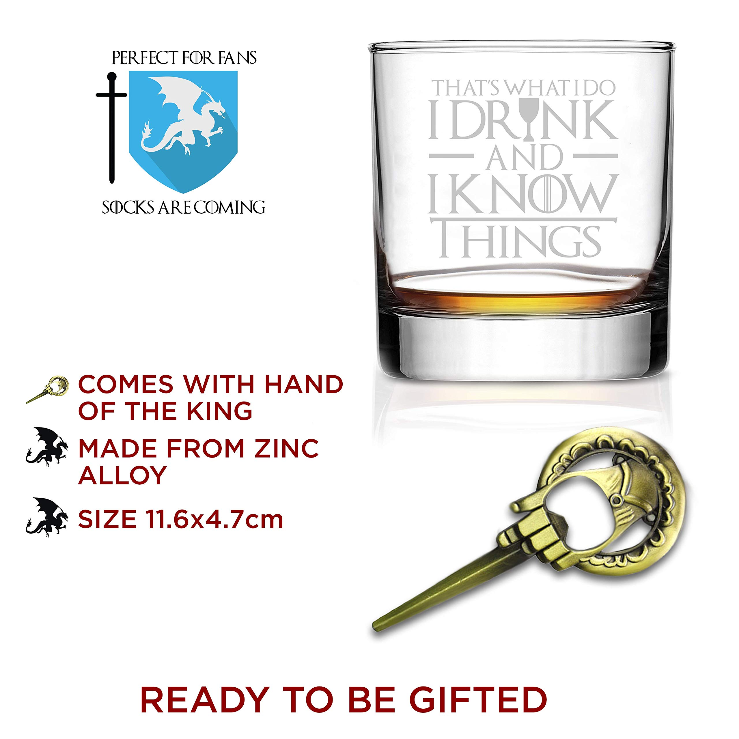 I Drink And I Know Things Highball Whiskey Glasses - Set of 2 - by FOLE (Image #4)