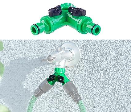 GARDENA 2 Wege Ventil Wasser Verteiler für Wasserhahn Schlauch 33.3 mm Gewinde
