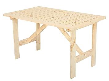 Amazonde Massivholz Tisch Hamar Tisch Gartentisch Holztisch