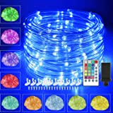 120 LED Rope Lights Plug in, 40ft 16 Colors Changing Outdoor String Lights Waterproof Fairy Lights with Remote Timer…