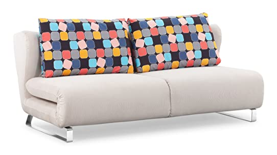 Zuo Modern Conic Sofa Sleeper W Cement Body & Color Block Back