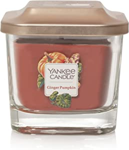 Yankee Candle Elevation Collection with Platform Lid Ginger Pumpkin Scented Candle, Small 1-Wick, 28 Hour Burn Time