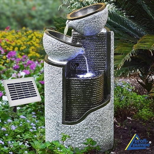 FUENTE SOLAR EXTERIOR - FUENTE DE AGUA DECORATIVA EXTERIOR - FUENTE EN CASCADA - FUENTE SOLAR PARA JARDIN -