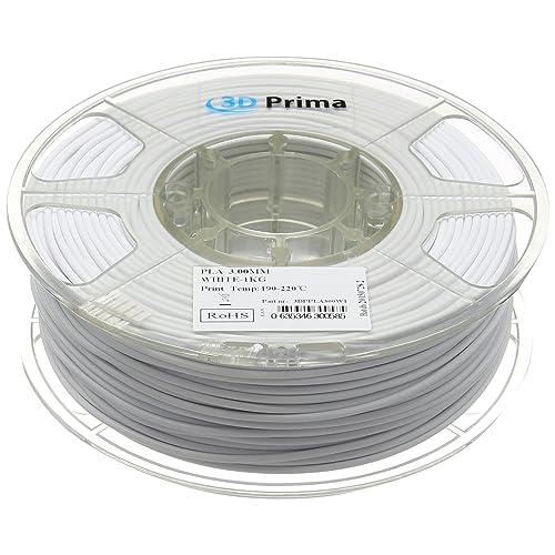 PrimaPLA™ Filamento para impresora 3D - PLA - 3mm - 1 kg bobina - Blanco